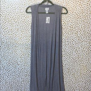South Moon Under Neely Ribbed Duster Vest NEW